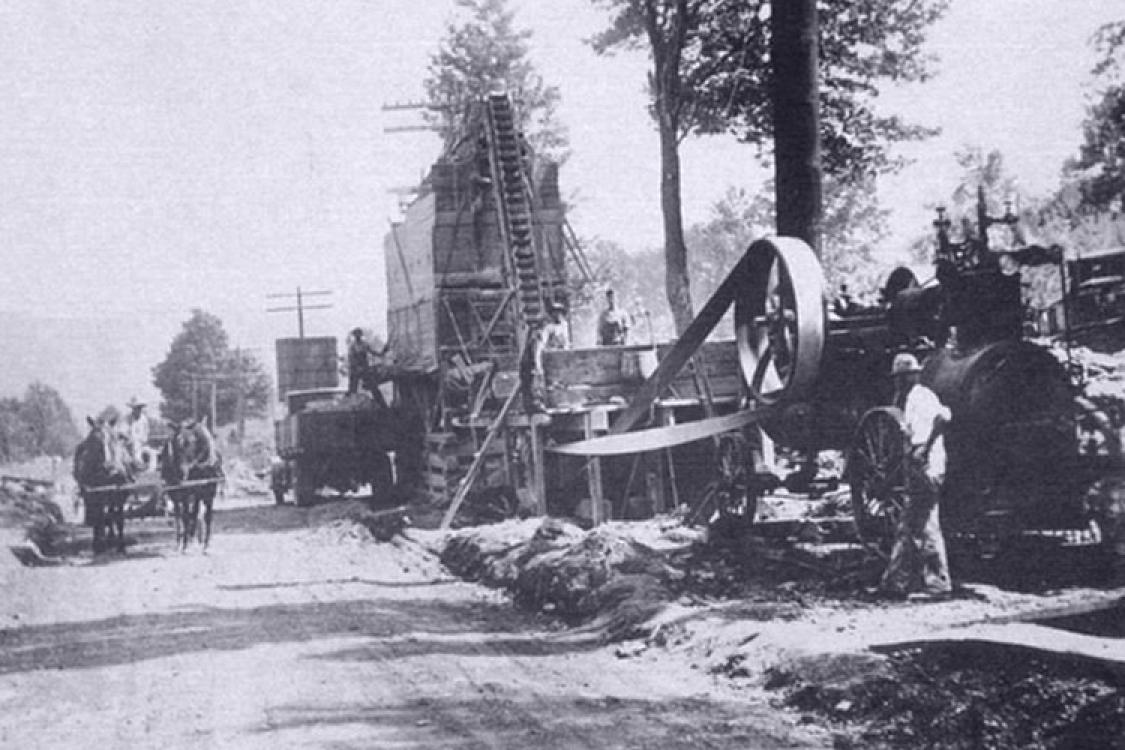 Image result for road work, city construction, 1940s