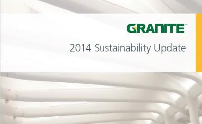 2014 Sustainability Report Cover